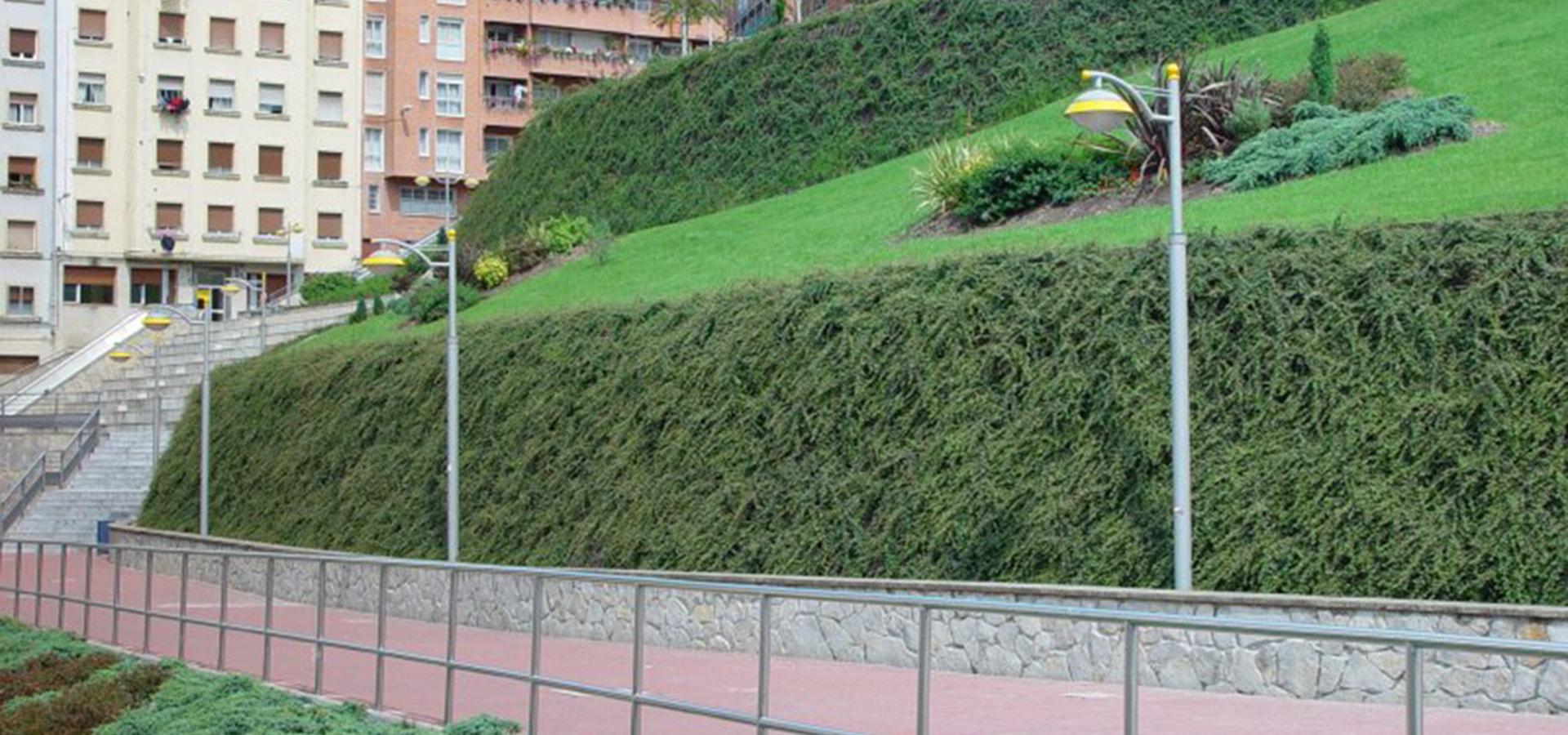 muro de contencion, muro verde gaztambide, muro de contención, ecológico, geomallas